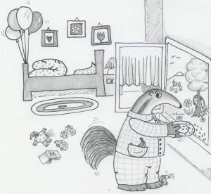 034 die geschichte vom ameisenb r der keine ameisen. Black Bedroom Furniture Sets. Home Design Ideas